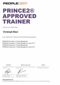 Prince2 Approved Trainer für Prince2 Foundation + Prince2 Practitioner
